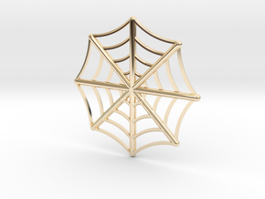 Spider web pendant in 14K Yellow Gold