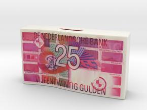 Spaarpot 25 Gulden in Matte Full Color Sandstone