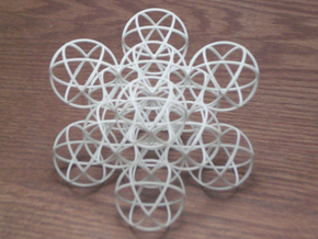 Packed Spheres Cube in White Natural Versatile Plastic
