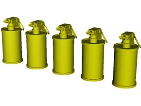 1/20 scale M-18 smoke grenades x 5 in Smooth Fine Detail Plastic