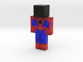 spiderman | Minecraft toy in Natural Full Color Sandstone