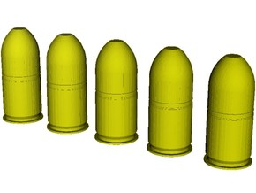 1/20 scale M-781 40x46mm grenades x 5 in Smooth Fine Detail Plastic
