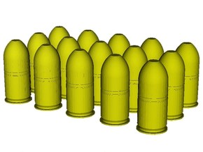 1/20 scale M-781 40x46mm grenades x 15 in Smooth Fine Detail Plastic