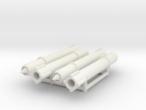 (1:144) (x4) Trommsdorff B2 in White Natural Versatile Plastic