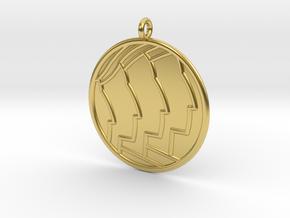 Sociology Symbol in Polished Brass