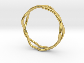 Ring 07 in Polished Brass