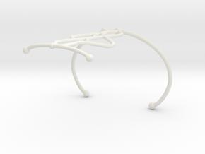 Bracelet7.2 in White Natural Versatile Plastic