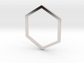 Hexagon 14.86mm in Platinum