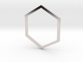 Hexagon 15.70mm in Platinum
