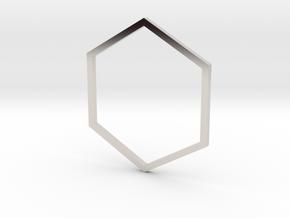 Hexagon 18.89mm in Platinum