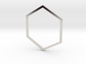 Hexagon 19.84mm in Platinum