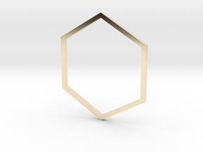 Hexagon 19.84mm in 14K Yellow Gold