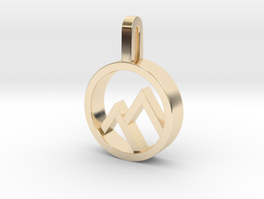 Mountain in 14k Gold Plated Brass