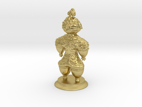 Dogū statue in Natural Brass (Interlocking Parts)