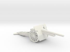 10cm Kanone m14 1/72 in White Natural Versatile Plastic