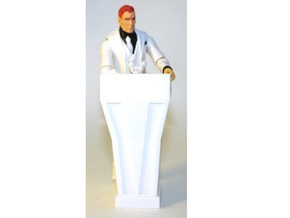 1:18 Scale Podium (Basic) in White Natural Versatile Plastic