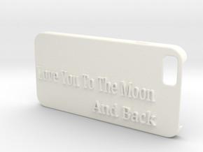 Love you to the moon and back iphone6 in White Processed Versatile Plastic