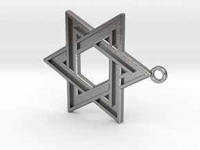 Star of David Pendant in Natural Silver