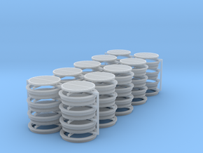 HO-slotted-drain-40ea in Smooth Fine Detail Plastic