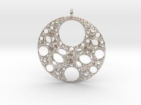 Klein Moon Pendant in Platinum
