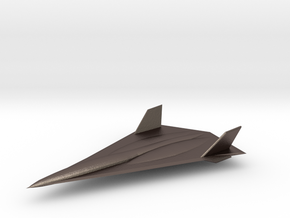 Lockheed Martin SR-91 Aurora in Polished Bronzed-Silver Steel: 1:144