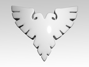 Silver Eagles Shoulder Icons x50 in Smooth Fine Detail Plastic