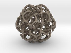 Ball 20 in Matte Bronzed-Silver Steel: 6mm