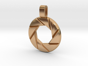 Portal - Aperture Science Pendant in Polished Bronze