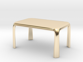 1:50 - Miniature Modern Dining Table  in 14K Yellow Gold