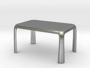 1:50 - Miniature Modern Dining Table  in Natural Silver