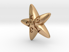 Starfish d10 in Natural Bronze