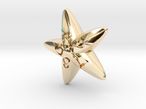 Starfish d10 in 14K Yellow Gold