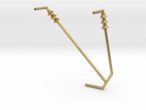Y BRACKET87_insulators in Natural Brass