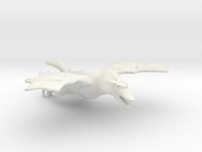 Omni Scale Space Dragon Young Female MGL in White Natural Versatile Plastic