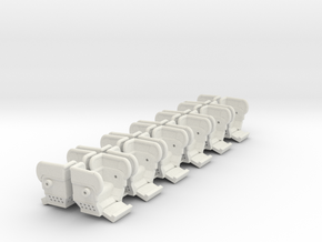 O ga Big Eli HY 5 seats 12 pack with guards in White Natural Versatile Plastic