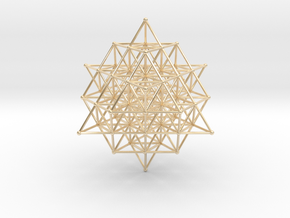 64 Grid Tetrahedron 65x1 Mm in 14k Gold Plated Brass