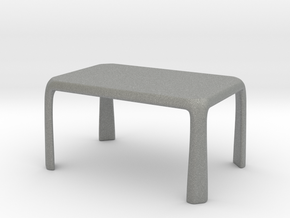 1:25 - Miniature Modern Dining Table  in Gray PA12