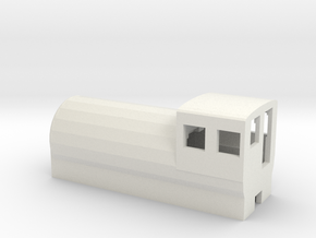 Fireless Locomotive in White Natural Versatile Plastic