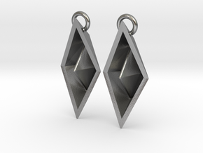 Paper Boat Earring in Natural Silver