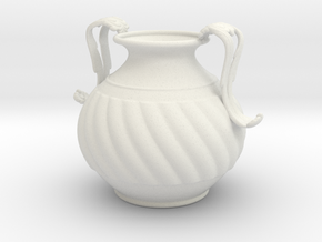 Vase JH1319 in White Natural Versatile Plastic