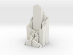 Hilbert Tower Small in White Natural Versatile Plastic