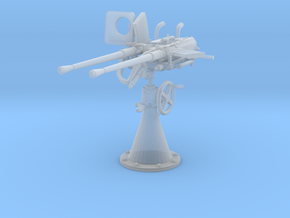 1/40 DKM Double 20mm C/30 Flak w/o. Shield in Smooth Fine Detail Plastic