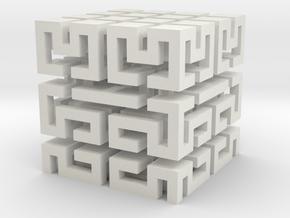 Hilbert Block in White Natural Versatile Plastic