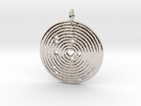 Solar Alignment Memento in Rhodium Plated Brass