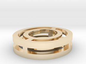 Font Letter O  in 14k Gold Plated Brass