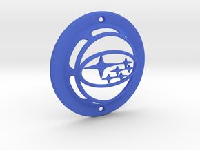 Hella Supertone Subaru Logo Cover in Blue Processed Versatile Plastic