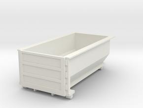 Rolloff Dumpster in O scale in White Natural Versatile Plastic
