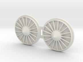 B-1B Engines in White Natural Versatile Plastic