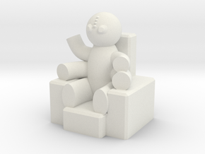Enthroned Four-armed Teddy in White Natural Versatile Plastic
