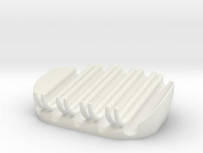 Soap Holder in White Natural Versatile Plastic